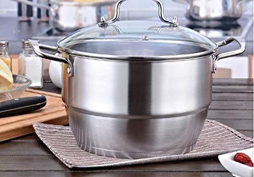 EHLA Verdickte nichtmagnetischen Doppelboden Suppe Dampfgarer, einlagig und zwei Schichten