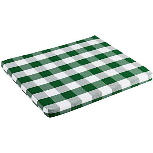 Sitzkissen Countryline, 34x39x2.5 cm (BxLxH), grün, 4 Stück/Packung