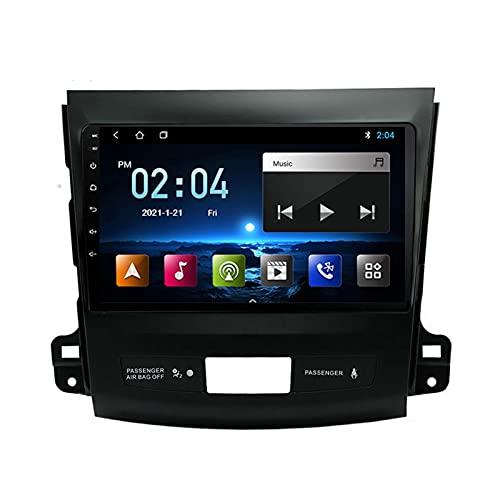 MGYQ Android 10.0 Coche Audio Estéreo Reproductor 9 Pulgadas HD Pantalla Táctil Receptor FM Bluetooth WiFi Espejo Enlace, para Mitsubishi Outlander 2006-2012 Radio De Coche,Quad Core,WiFi 1+32