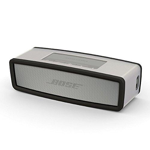 iProtect Schutzbox Abdeckung für Bose So&Link Mini Lautsprecher Soft Cover Hülle in transparent & schwarz