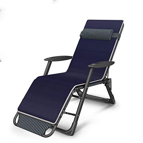 WFFF Sillón reclinable Plegable para el Almuerzo, Siesta, balcón, Ocio, hogar, Cama, Silla, Respaldo, sofá, Silla portátil, Silla de Playa