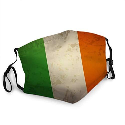 Wiederverwendbarer Gesichtsschutz Mundschutz Flagge Irland Grunge