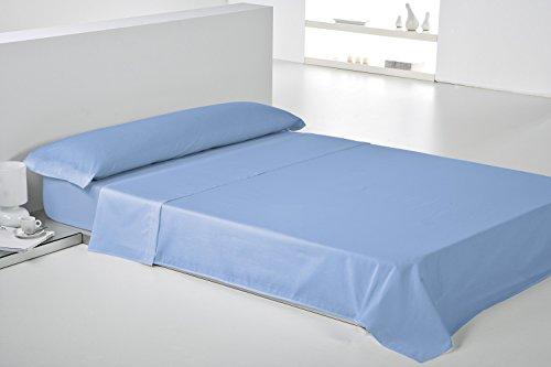 Play Basic Collection Lisa Juego de Sábana, Algodón-Poliéster, Azul, 270x180x3 cm, 3 Unidades