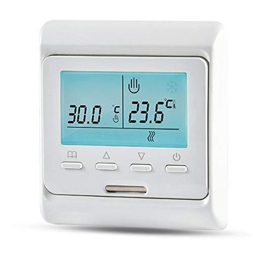 Thermostat Plancher M/écanique Manuelle Thermostat De Chauffage Air Condition /Économiseur D/énergie Commutateur De Contr/ôle De La Temp/érature Mur Plinthe Chauffage 230V 50 60Hz du mur /À Lint/érieur
