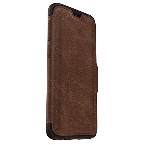 OtterBox Strada Etui - Elegante, sturzsichere Folio Schutzhülle aus echtem Leder für Galaxy S9, braun