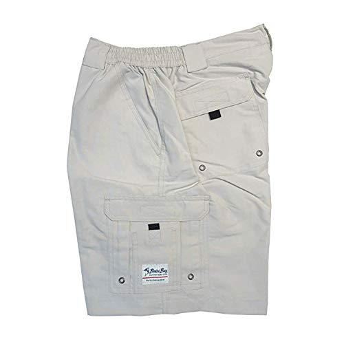 Bimini Bay Outfitters Boca Grande Short II Bloodguard, Color: Cement, Size: 36 (31710-C-36)