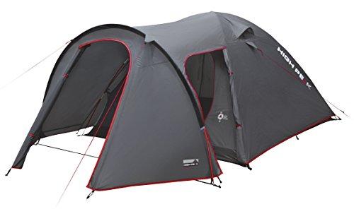 High Peak 10214 Tente dôme Mixte Adulte, Gris Foncé/Rouge, 340 x 190 x 120 cm