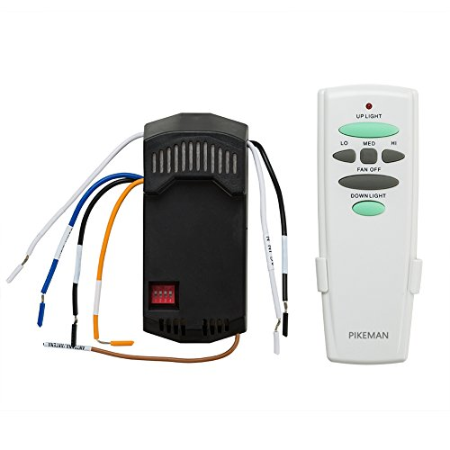 Universal Ceiling Fan Remote Control and Receiver Complete Kit with Up Down Light Replace Hampton Bay UC7078T UC7067RC L3H2010FANHD Fan-HD6 FAN-28R-Pikeman