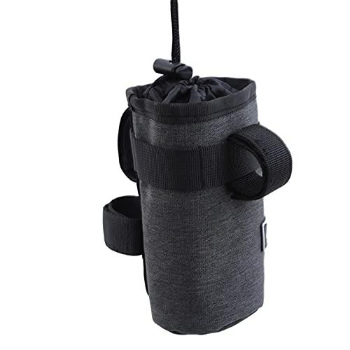 ZRSYH Bolsa de transporte para botella de agua, 750 ml, portátil, aislante, para botella de agua, bolsa de sillín de bicicleta de montaña, bolsa de ciclismo, color gris oscuro