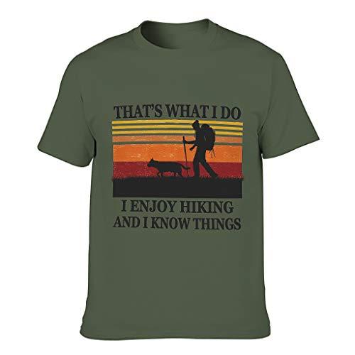 LL·Shawn Mens Enjoy Hiking Know Things - Camiseta de algodón para hombre