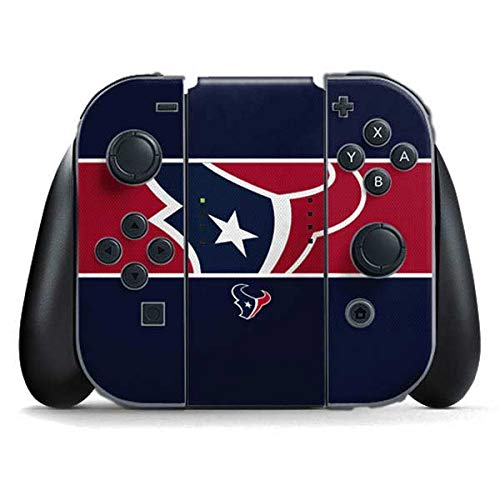Skinit Decal Gaming Skin Compatible with Nintendo Switch Joy Con Controller - Officially Licensed NFL Houston Texans Zone Block Design