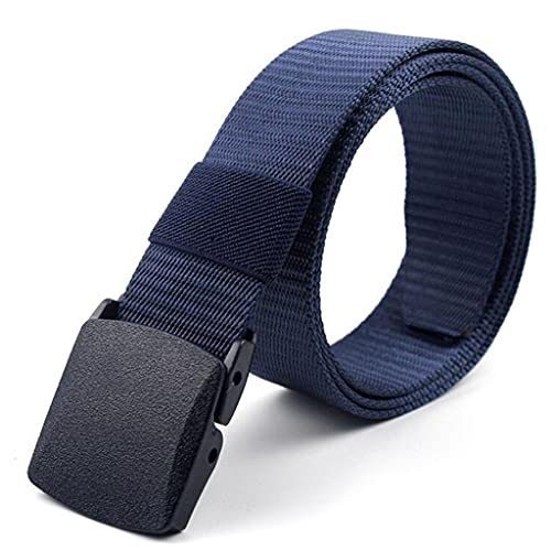 SSMDYLYM Hombres Cinturones femeninos Militar Nylon Cinturón ajustable Hombres Viaje al aire libre Cinturón táctico Cinturón con hebilla de plástico para pantalones 130 cm (Color : B)