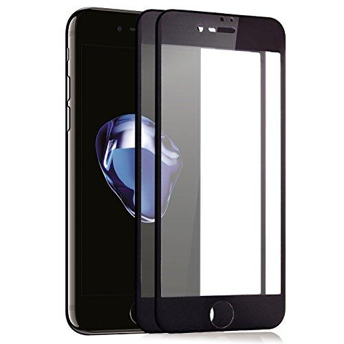 zanasta Cristal Protector de Pantalla Full Cover Apple iPhone 7 Plus (5,5) Vidrio [3D Protectora Completa/Full Screen/Redondeada], 9h Dureza Negro 3 Unidades