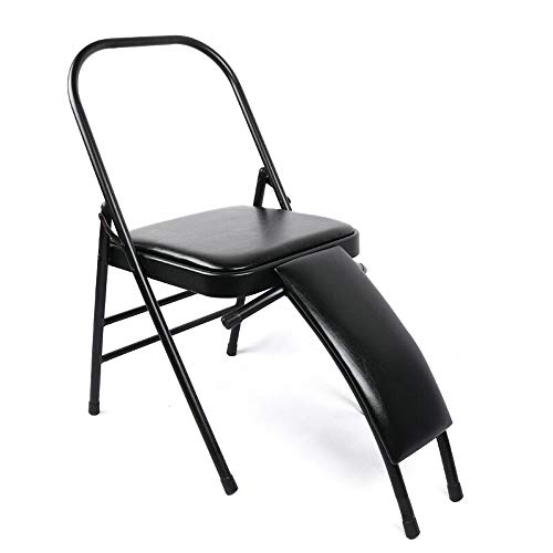 Fantastic Deal! L.J.JZDY Yoga Chair Foldable Yoga Chair with Lumbar Support, Steel Pipe Yoga Chair, ...