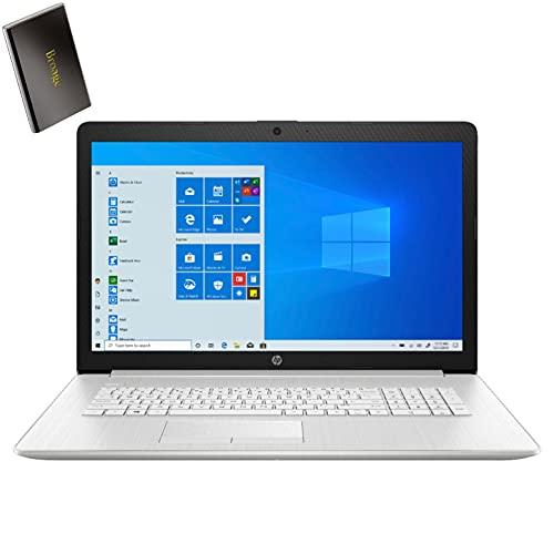 "HP 17 17.3"" FHD Laptop Computer, 11th Gen Intel Quad-Core i5-1135G7 up to 4.2GHz (Beat i7-1065G7), 8GB DDR4 RAM, 256GB PCIe SSD, AC WiFi, Bluetooth 4.2, Windows 10, BROAGE 500GB External Hard Drive"