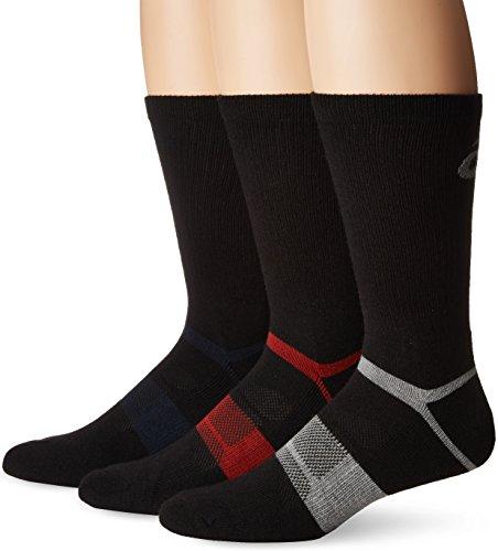 ASICS Quick Lyte Wool Blend Crew Chaussettes Mixte, Black Assorted, Petit