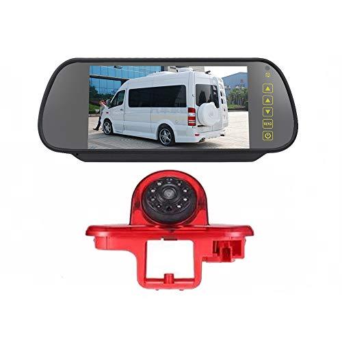 TOPTOO HD IR Night Vision 3rd Brake Light Reversing Backup Camera Waterproof Rear View Camera + 7.0 inch Reverse Rear View Monitor for Trafic (2001-2014), Combo (2001-2011), Vauxhall Vivaro (2001-2014