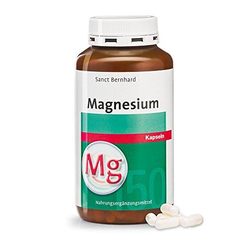 Sanct Bernhard Magnesium Kapseln mit reinem Magnesium, Inhalt 340 Kapseln
