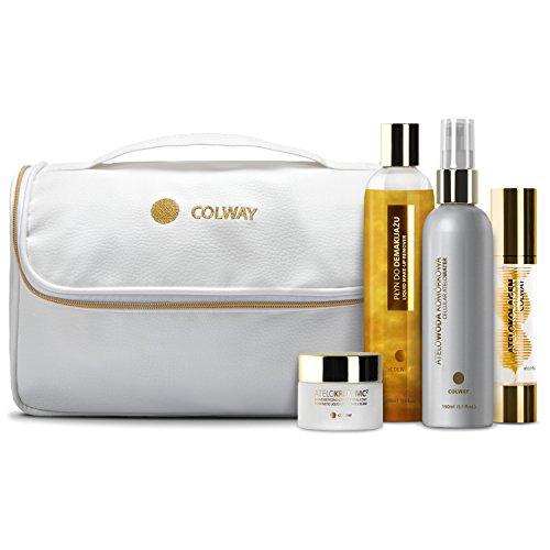 Colway GOLDEN ATELO-SET Atélocollagene innovant traitement anti-age Rajeunissement des cellules de la peau Cadeau de luxe
