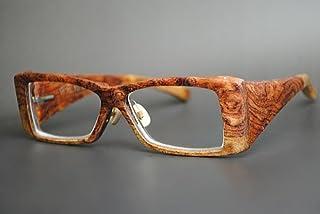 木製めがねフレーム UBUB-903F(DOKUSOU TIKUHOU)【ルーツ】【鯖江産】【職人謹製】【ブビンガ】【希少杢】