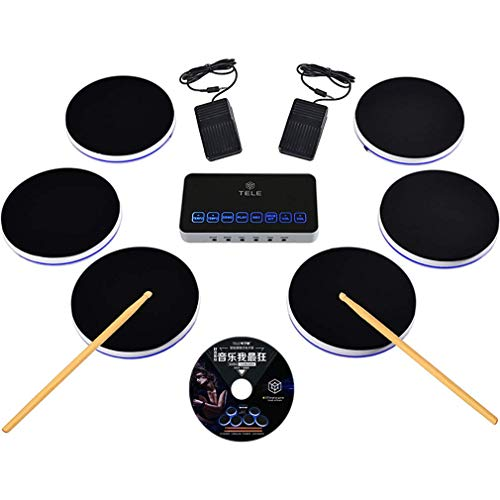 Review Portable Electronic Drum Pad for Kids Adult, 44K Professional Sound 6 Independent Drums Can B...
