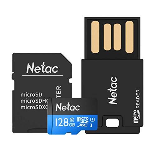 Cartão Memória Micro SDXC 128GB 80MBs Netac e ADAPT USB