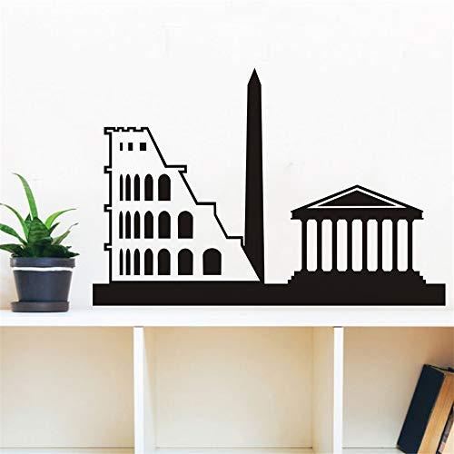 Vinyl-Wandaufkleber, abnehmbar, Wandaufkleber, Wandaufkleber, Wandaufkleber, Wohndekoration, Landmark of Rom Coliseum Sofa Background