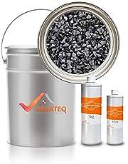 BEKATEQ Steentapijt zwart (Nero Ebano) met hars bindmiddel - 25kg marmergrind Nero Ebano met 1,5 kg bindmiddel, voor 2,5 m²