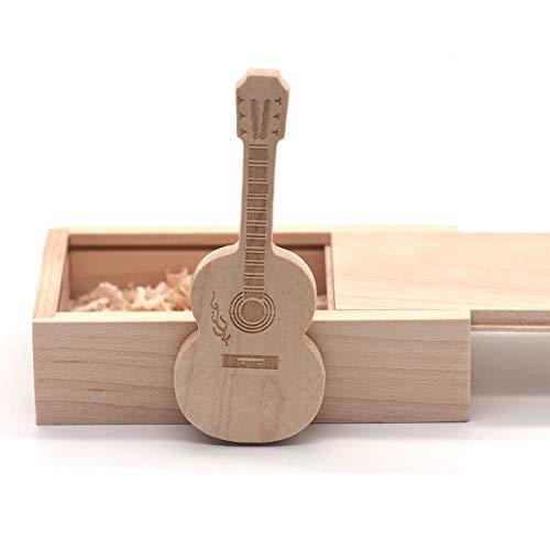 Wooden Maple Guitar Flash Drive