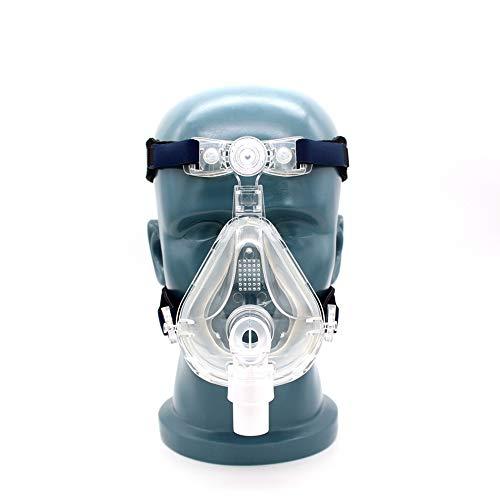 Volledig gezicht met verstelbare hoofdbandbandclips voor mondneus Slaapapneu Anti-snurkbehandeling
