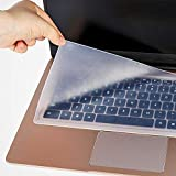 SDTEK Protector de Teclado Piel Funda de Silicona Película Transparente Universal para portátil de 15-17 Pulgadas, Notebook, Netbook, Chromebook