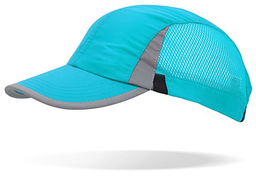 noorsk Sportcap Baseballcap im Jockey-Stil mit reflektierenden Elementen am Schirm und an den Seiten Mint OneSize