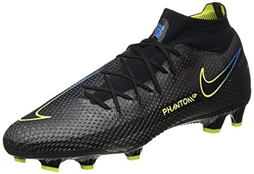 Nike Phantom GT Pro DF FG, Football Shoe Hombre, Black/Black-Cyber-Light Photo Blue, 44.5 EU