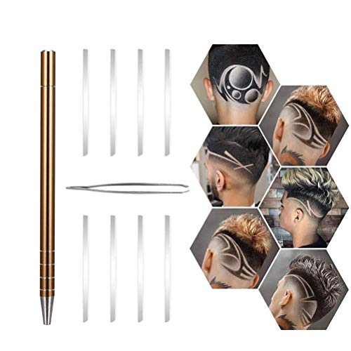 Männer Clipper Pen, Haar Tattoo Rasierstift DIY Gravierte Rasiermesser Pen für raffiniertes Haar Augenbrauen Bart Styling