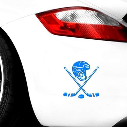 auto aufkleber Persönlichkeit Eishockey Helm Lustige Auto Aufkleber 15 Cm x 15,6 Cm Für Auto Laptop Fenster Aufkleber