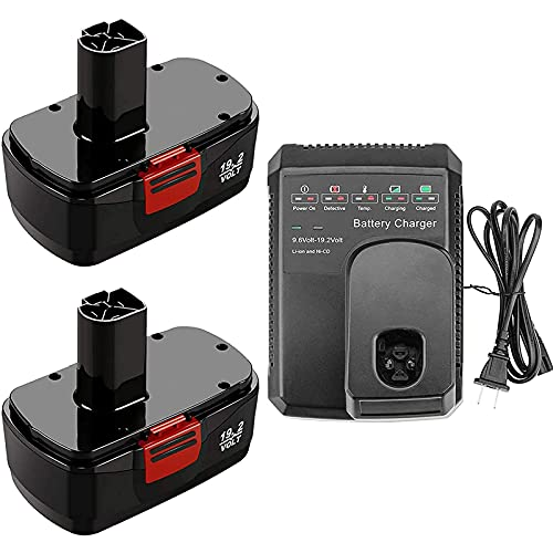 2Packs 19.2 Volt 3.6Ah Replacement for Craftsman 19.2V Battery Ni-MH...