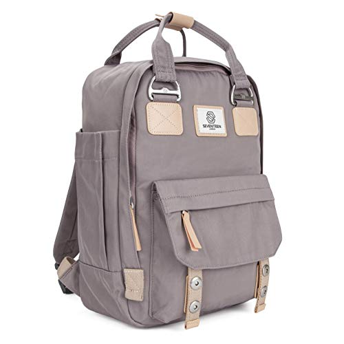 """SEVENTEEN LONDON – Urban Lilac 'Camden' Backpack with a Modern, Multi-Wearable Design – Fits Laptop up to 13"""""""