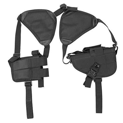MLMLH Schulterholster - Strapazierfähiger schwarzer Schulterholster-Beutel Verstellbarer Magazintaschen