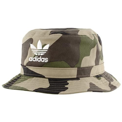 adidas Mens Originals Camo AOP Bucket Hat, Aop Camo Olive Cargo/White, One Size