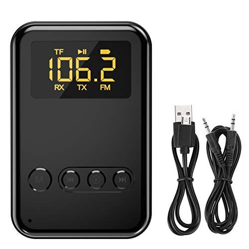 Bluetooth Empfänger, TedGem Bluetooth Empfänger für Stereoanlage, Bluetooth Empfänger Auto 5.0 Bluetooth Adapter USB Bluetooth Empfänger Aux, Tragbare/mit 3.5 mm Aux Audio/Eingebautes Mikrophon