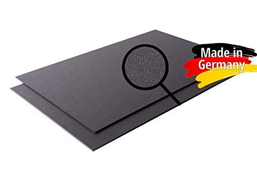ASA/ABS Platte Kunststoff Platten | GENARBT | SCHWARZ | 1000x490mm |TOP Qualität |(2mm, 100 x 49 cm)