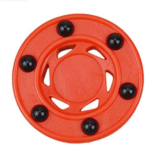 CLIUS ller Hockey Puck Orange Professionelle und Räder ABS Durable gh Density Zubehör perfekt Balance Anti ll Practice