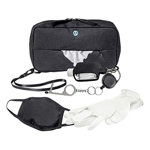 HurryCane Hurryshield Personal Protective Equipment PPE Kit and Bag by Hurrycane, Black