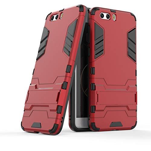 Sangrl Handyhülle Für ZTE Nubia Z17 Mini S, [2 in 1 und Halterung Design] Dual Layer Schutzhülle Stoßfeste Anti-Scratch case Hülle Für ZTE Nubia Z17 Mini S - Rot