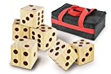 Kovot Oversize Wood Dominoes Set with Carry Bag - Includes 28 Domino Tiles 7' x 3 1/2' x 1/2' Each