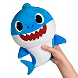 Baby Shark- Peluche Musical Daddy Shark, Color Azul, Talla Única (Bandai SS92513)
