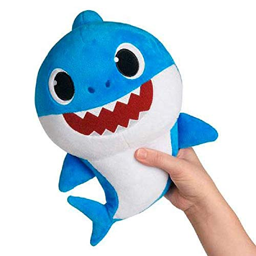 Baby Shark- Peluche Musical Daddy Shark, Color Azul, Talla
