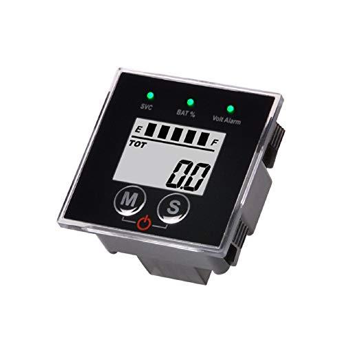 Runleader 12V bis 48V Multifunktionsbatterie Ladezustandsanzeige,Digitaler Wartungsstundenzähler,Bleisäure,GEL,Lithiumeisen,LiFePO4,Trojaner,AGM,Batterieanzeige,Batterietester (BI022)