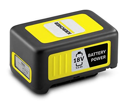 Kärcher Battery Power 18/50, 18 V, 5 Ah (Energieverbrauch 90 Wh, Echtzeitanzeige Akku, Lithium-Ionen-Akku, extrem robust, Temperaturmanagement, Strahlwasser geschützt, automatischer Lagermodus)