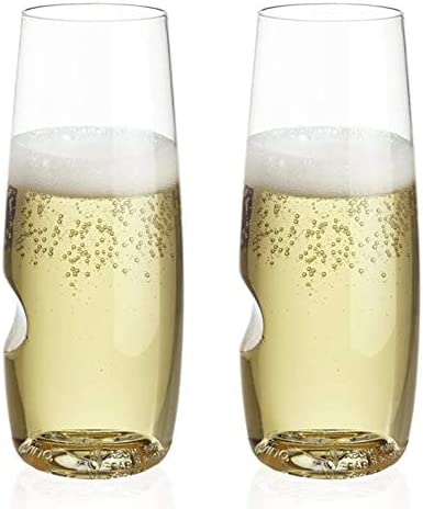 The govino Dishwasher Safe Champagne Flutes Flexible Shatterproof Recyclable 8 ounce Set of product image
